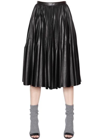 Vionnet Pleated Nappa Leather Skirt   Where to buy & how to wear
