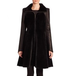 The fur salon shearling a line coat medium 1213709