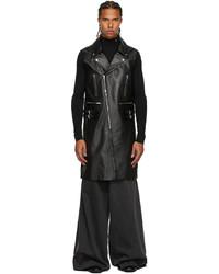 Raf Simons Black Archive Redux Calfskin Sleeveless Jacket