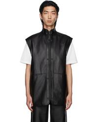 032c Black Leather Vest