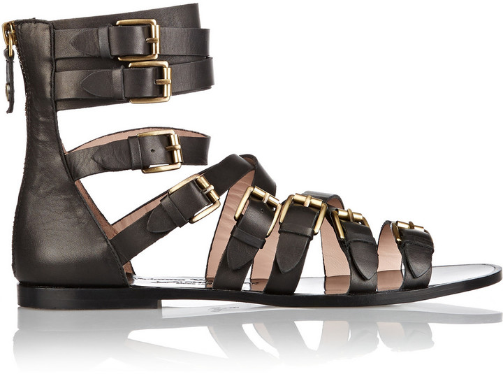 5a092f7c1b3 ... Vivienne Westwood Anglomania Leather Gladiator Sandals ...