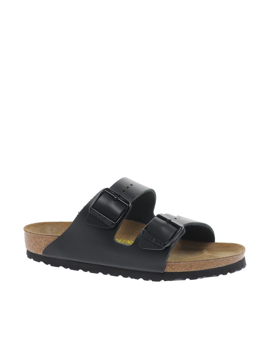 c3d640bf458b ... Birkenstock Arizona Black Leather Two Strap Sandals