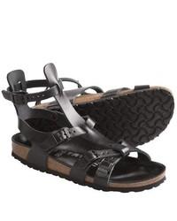 Birkenstock Tatami By Amadora Gladiator Sandals Leather Black Nappa