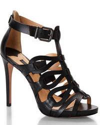 Schutz Black Gladiator High Heel Sandals