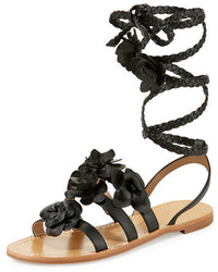 e9851be41 Tory Burch Melody Pearly Ankle Wrap Flat Sandal Black Out of stock · Tory  Burch Blossom Leather Gladiator Sandal
