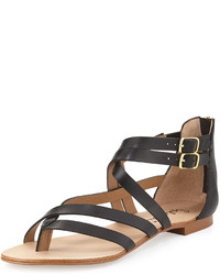 Splendid Caddie Strappy Leather Sandal Black