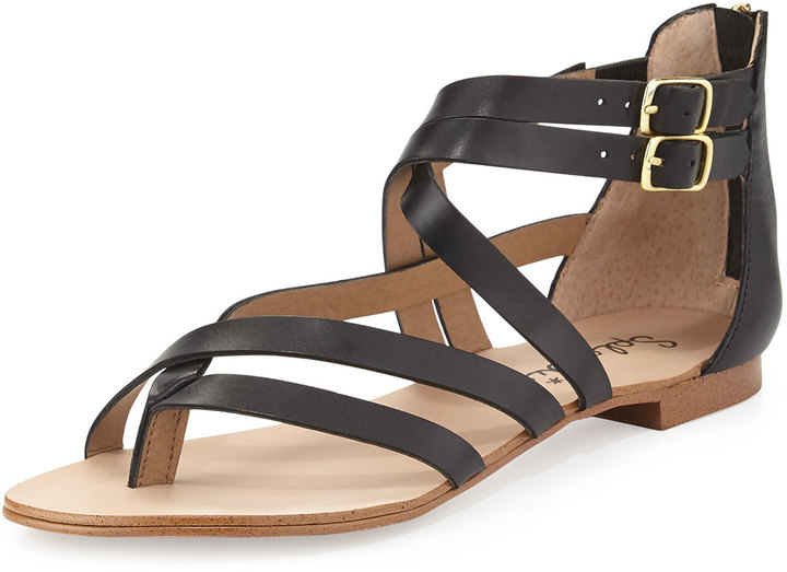 8cef731350e ... Gladiator Sandals Splendid Caddie Strappy Leather Sandal Black