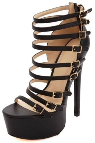 a9035009db5 $48, Charlotte Russe Anne Michelle Strappy Belted Mega Platform Heels