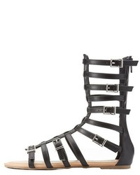 Charlotte Russe Strappy Buckled Gladiator Sandals