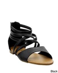DND FASHION INC Anna Mango Strappy Gladiator Ankle Sandals