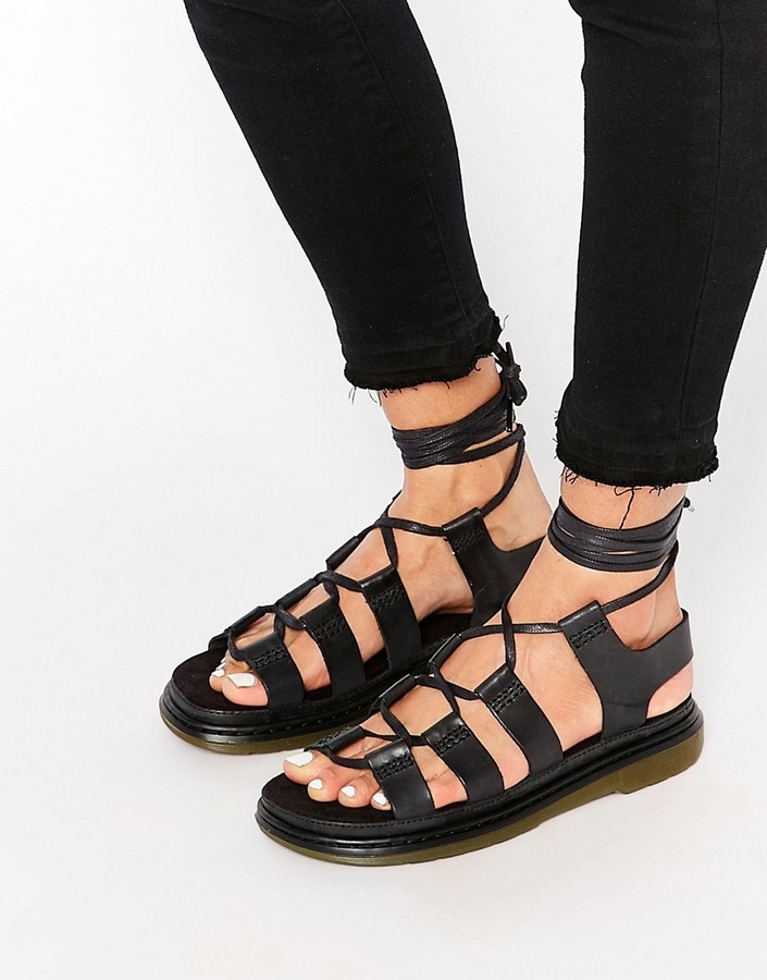 55ef0a232c3 ... Gladiator Sandals Dr. Martens Dr Martens Kristina Ghillie Lace Up Flat  Sandals ...