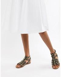 ASOS DESIGN Flip Leather Gladiator Sandals