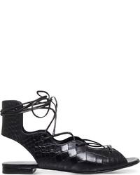 Saint Laurent Ghillie Leather Sandals