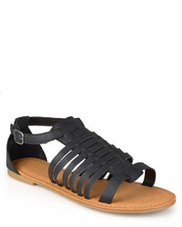 Journee Collection Gladiator T Strap Sandals