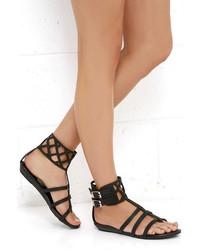 Matisse Coconuts Archie Black Gladiator Sandals