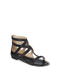 Michael Kors Michl Kors Hunter Leather Gladiator Sandals