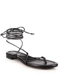 Michael Kors Michl Kors Collection Bradshaw Lace Up Leather Sandals