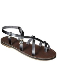 Mossimo Supply Co Lavinia Gladiator Sandals Black 10