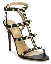 Valentino Garavani Rockstud Patent Leather Gladiator Sandals