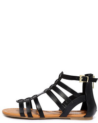 Soda Sunglasses Sand A Chance Black Gladiator Sandals
