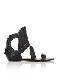 IRO Studded Xanka Gladiator Sandals Black Size 8