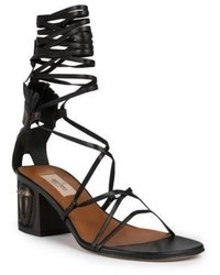Valentino Tribe Gladiator Mask Lace Up Sandals