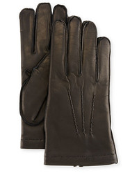 Portolano 3 Point Napa Leather Gloves Wcashmere Lining