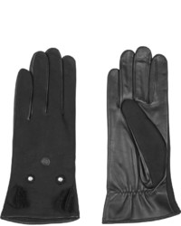 Agnelle Nubuck And Leather Gloves