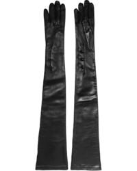 Alexander McQueen Leather Gloves Black