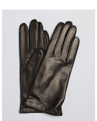 All Gloves Black Leather And Cashmere Lined Gloves