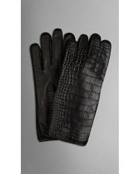 Burberry Alligator Leather Gloves