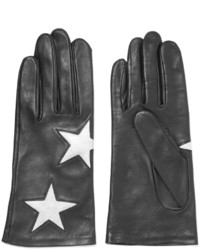 Agnelle Appliqueacuted Leather Gloves