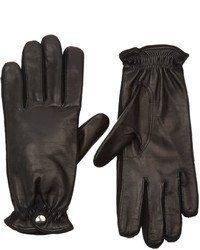 Barneys New York Cashmere Lined Leather Gloves