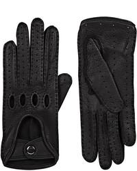 Barneys New York Leather Driving Gloves