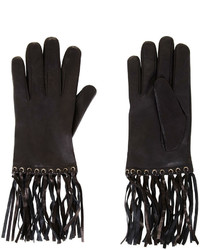 BCBGMAXAZRIA Fringe Leather Gloves