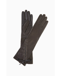 BCBGMAXAZRIA Lace Up Leather Gloves