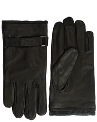 Calvin Klein Belted Leather Glove And Touch Tips