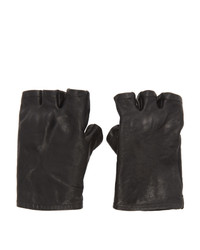 Boris Bidjan Saberi Black Fingerless Gloves