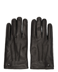 Valentino Black Garavani Leather Gloves
