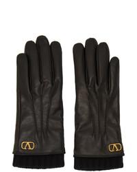 Valentino Black Garavani Vlogo Gloves