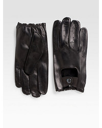 Saks Fifth Avenue Black Label Nappa Leather Driving Gloves