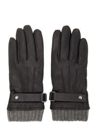 Mackage Black Lambskin Reeve Gloves