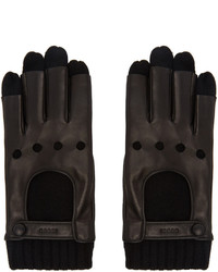 Gucci Black Layered Driving Gloves