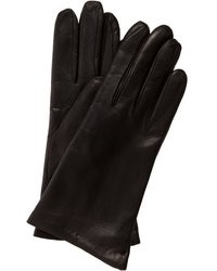 All Gloves Black Leather Cashmere Lined Gloves