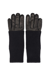 AMI Alexandre Mattiussi Black Leather Gloves