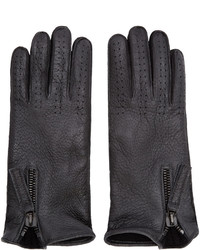 Haider Ackermann Black Leather Gloves