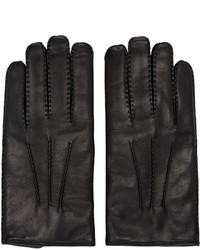 Valentino Black Leather Gloves