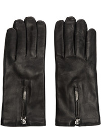 Black leather gloves medium 642095