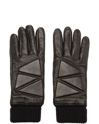 Bottega Veneta Black Leather High Frequency Gloves
