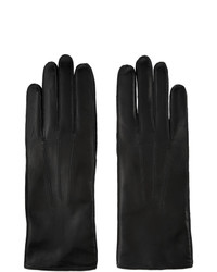 Ann Demeulemeester Black Leather Joris Gloves